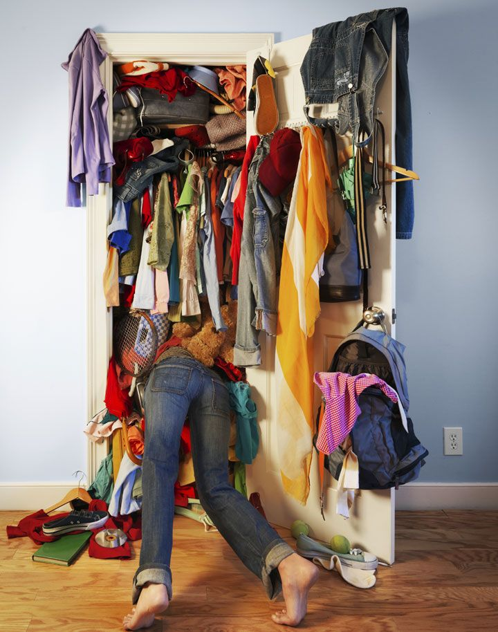 Image result for overflowing closet